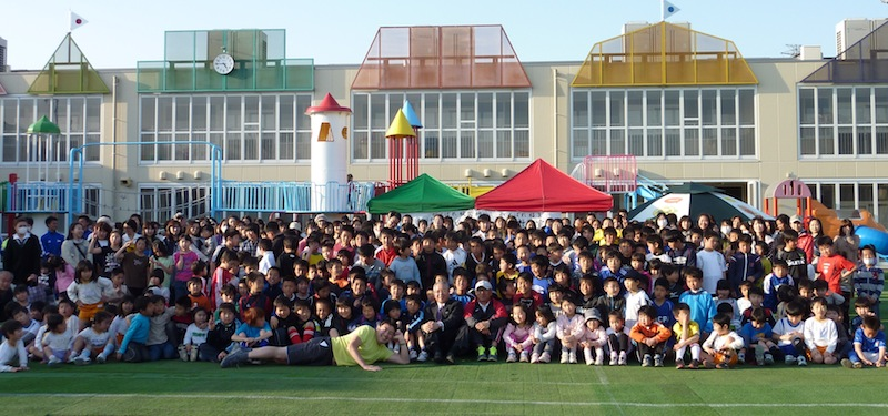 20110411福島大川本先生チャリティ陸上教室2