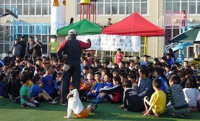 20110411福島大川本先生チャリティ陸上教室1